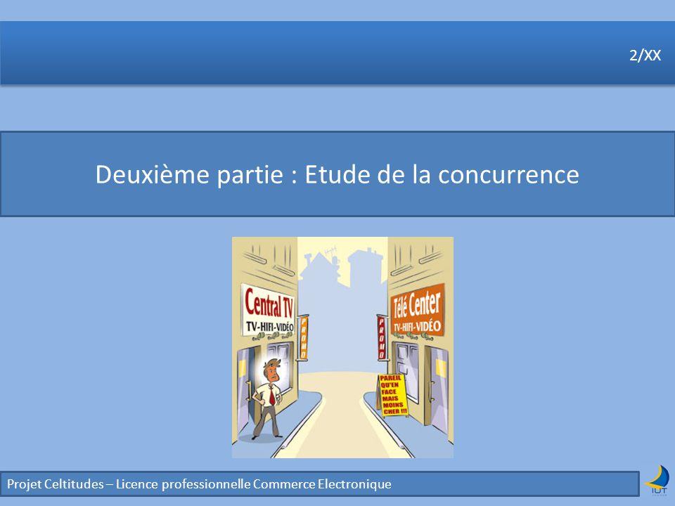 Projet Celtitudes – Licence professionnelle Commerce Electronique 2/XX Deuxième partie : Etude de la concurrence