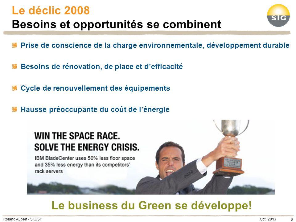 La démarche Le business se mobilise… 7 Audit énergétique Plan daction Calcul de ROI Investissement de 200000.- Couvert en 2 ans Centre Informatique SIG 650 MWh annuels .