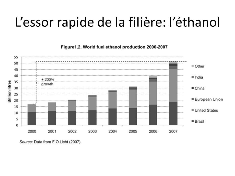 Lessor rapide de la filière: le biodiesel 1. LES DIMENSIONS DE LA PROBLÉMATIQUE BIOCARBURANT