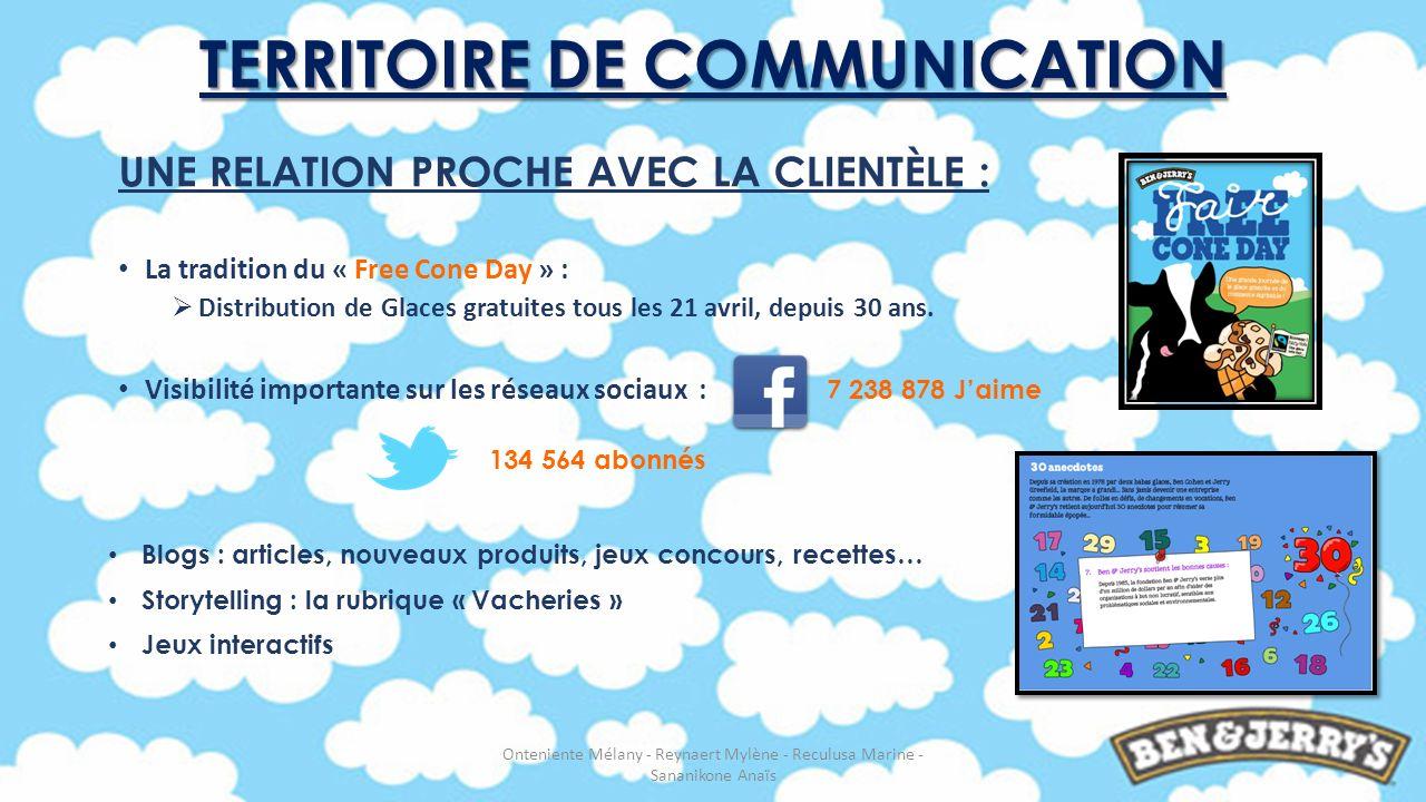 UNE RELATION PROCHE AVEC LA CLIENTÈLE : La tradition du « Free Cone Day » : Distribution de Glaces gratuites tous les 21 avril, depuis 30 ans. Visibil