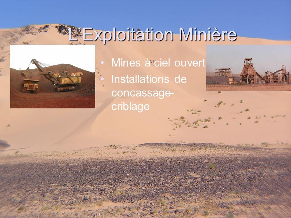 LExploitation Minière Mines à ciel ouvert Installations de concassage- criblage