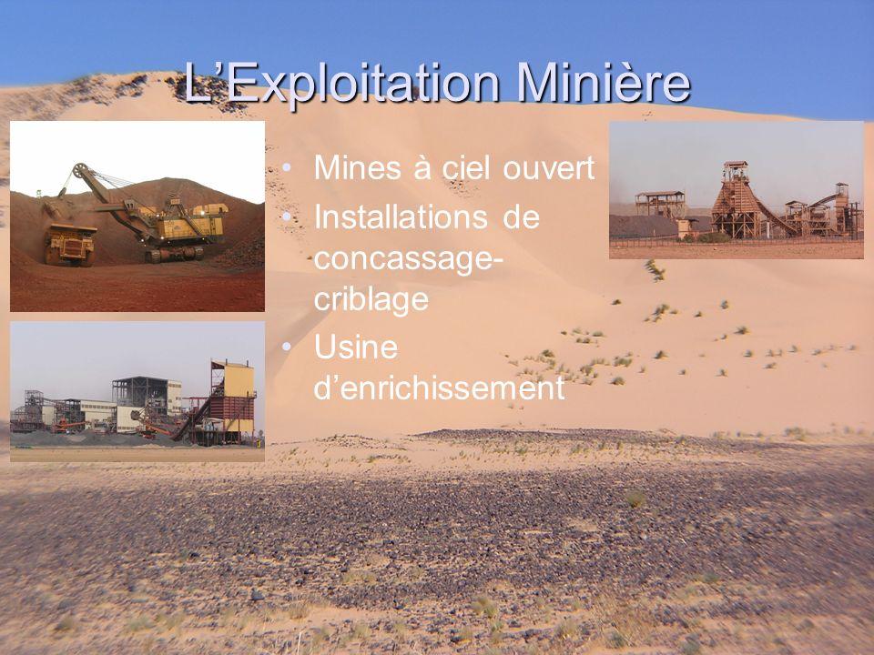 Mines à ciel ouvert Installations de concassage- criblage Usine denrichissement LExploitation Minière