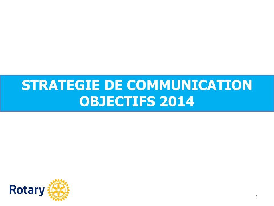 Objectifs stratégiques 2 développer la notoriété du Rotary moderniser et donner du contenu à son image