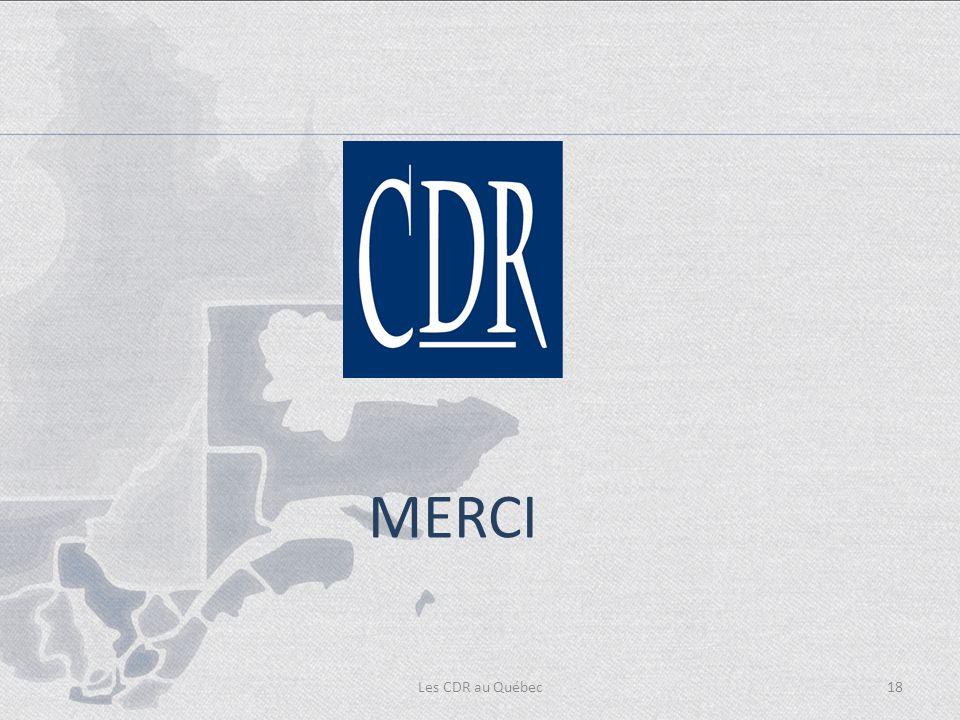 Les CDR au Québec18 MERCI