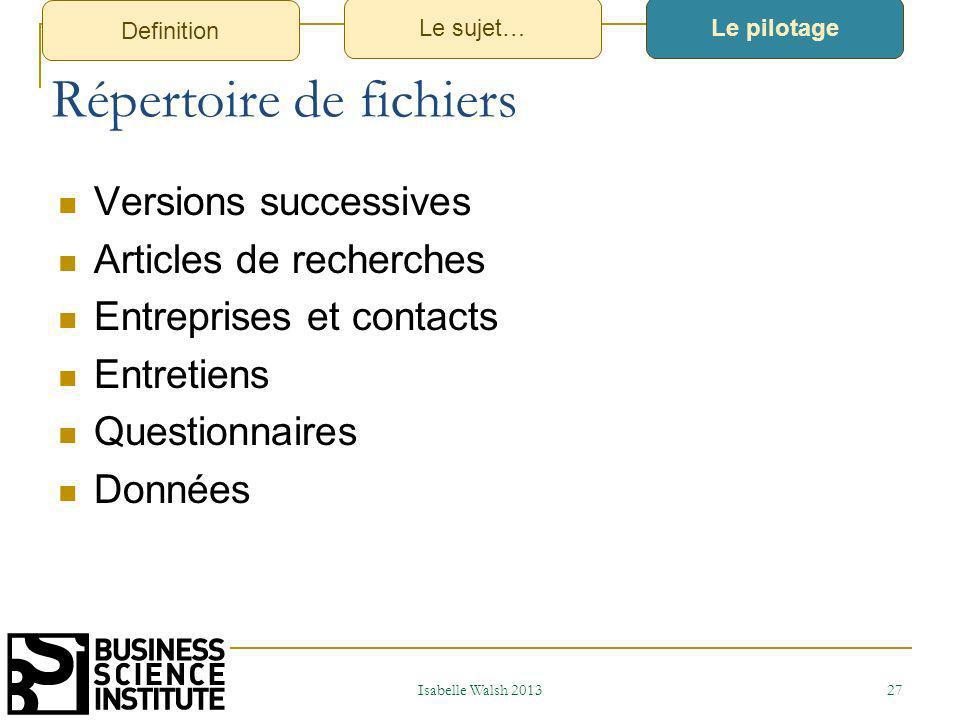 2- Structure et attendus dun travail de recherche 2013
