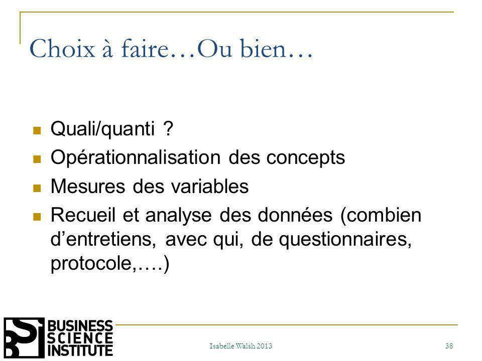 Résultats Recherche dobjectivité Clarté Synthèse Isabelle Walsh 2013 39