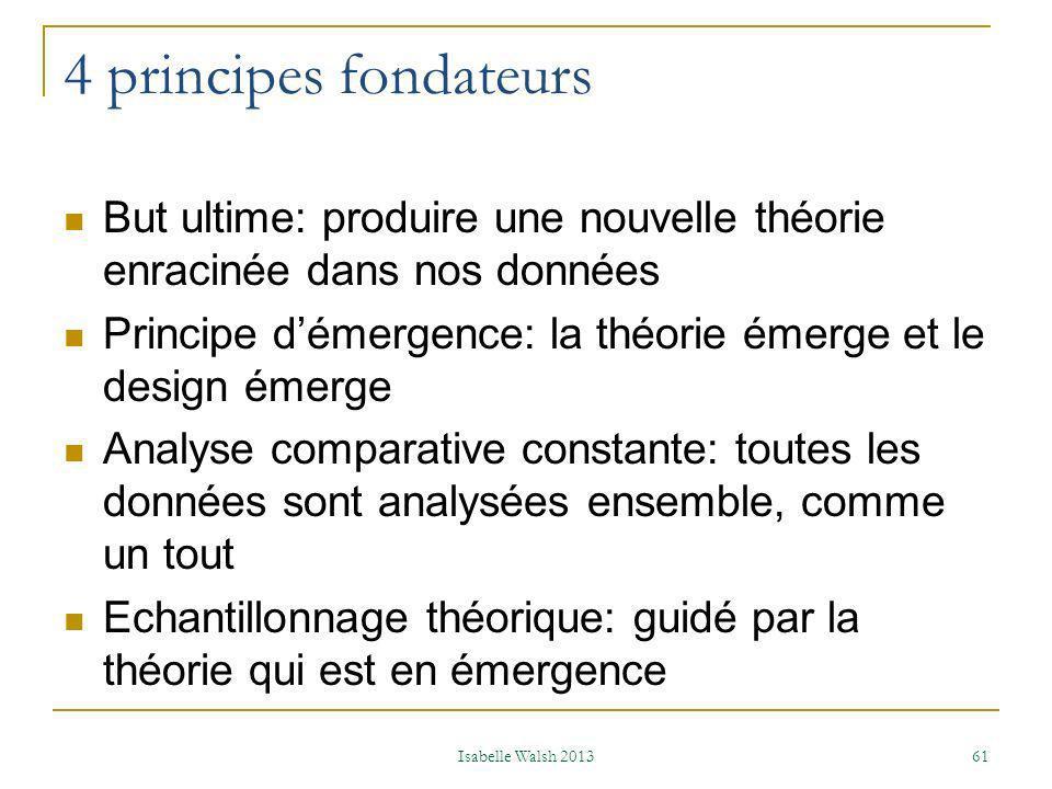 Méthodes Qualitatives ou Quantitatives ou Qualitatives et quantitatives Isabelle Walsh 2013 62