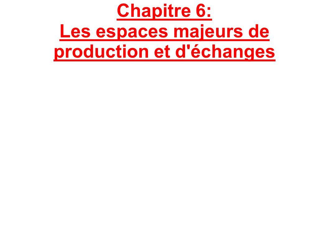 Chapitre 6: Les espaces majeurs de production et d'échanges