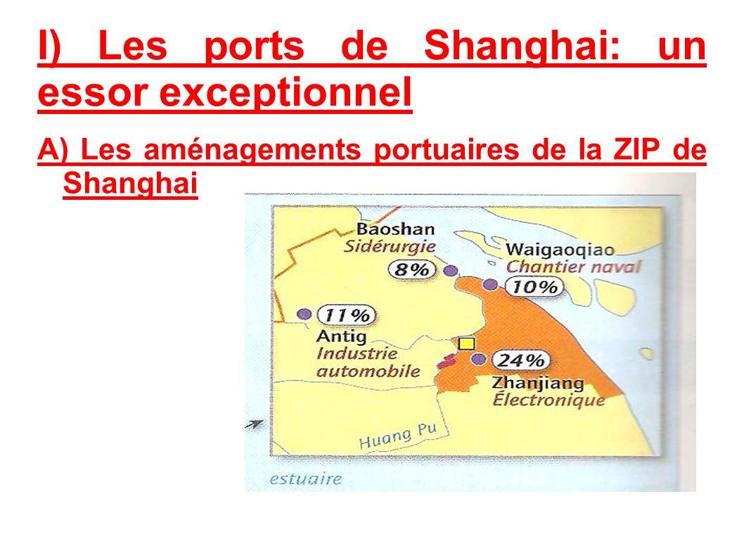I) Les ports de Shanghai: un essor exceptionnel A) Les aménagements portuaires de la ZIP de Shanghai