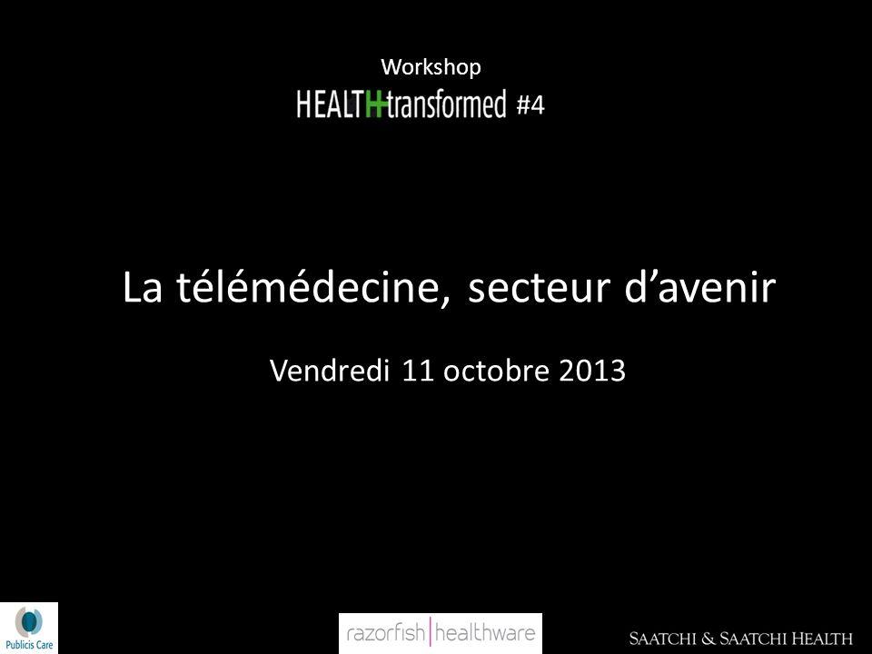 Workshop #4 La télémédecine, secteur davenir Vendredi 11 octobre 2013