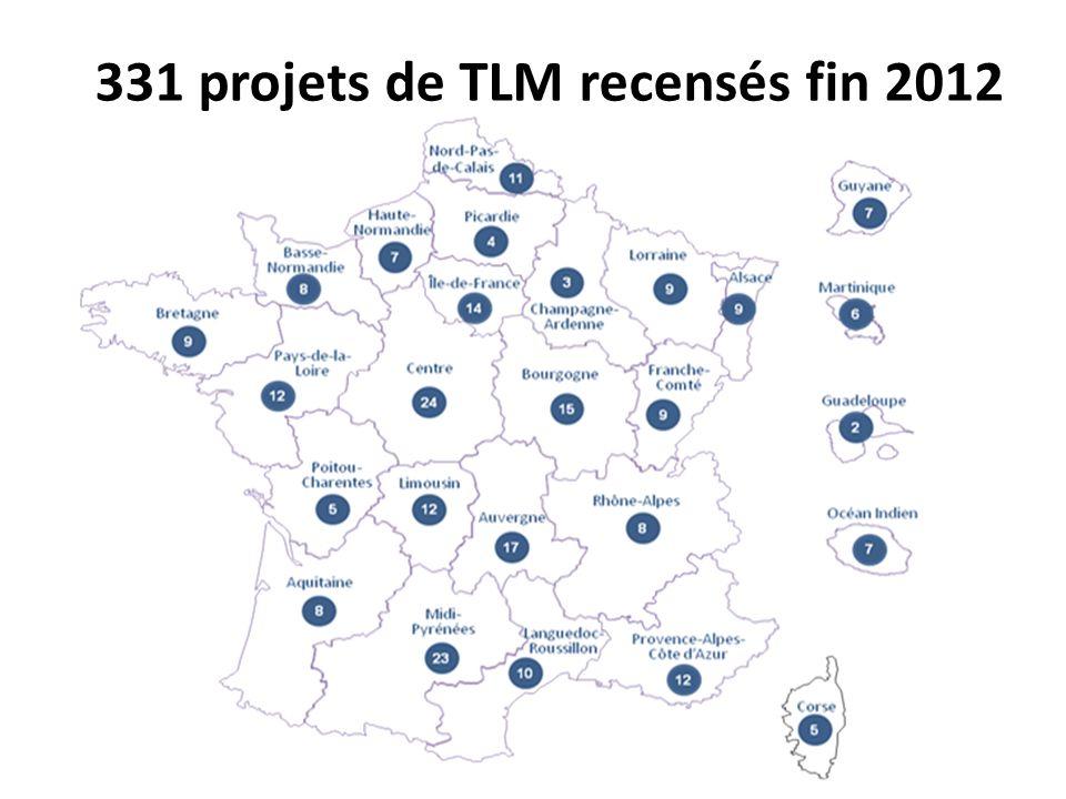 331 projets de TLM recensés fin 2012