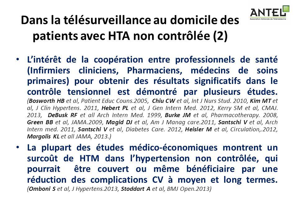 Dans la télésurveillance au domicile des patients avec HTA non contrôlée (2) Lintérêt de la coopération entre professionnels de santé (Infirmiers clin