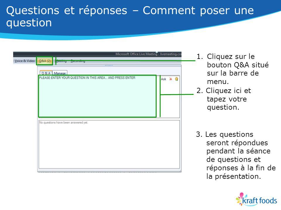 1.Cliquez sur le bouton Q&A situé sur la barre de menu.