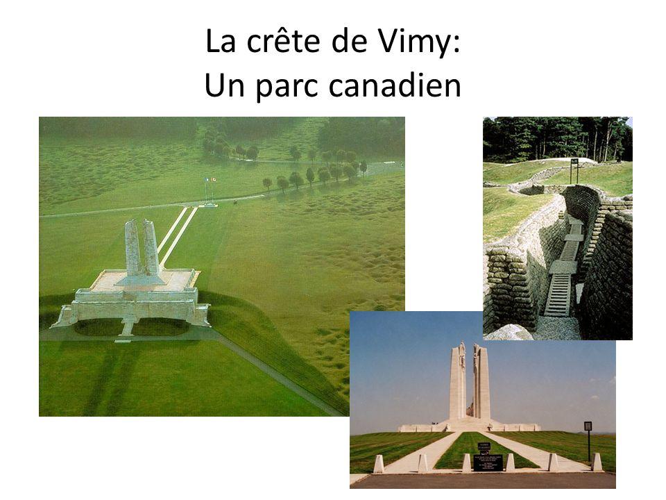 La crête de Vimy: Un parc canadien