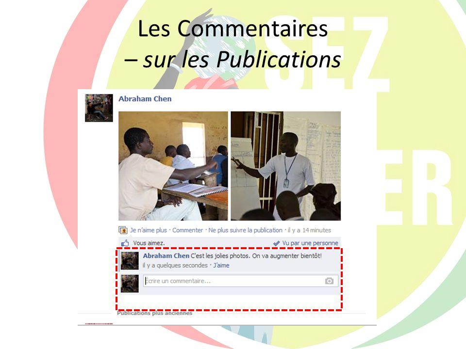 Les Commentaires – sur les Publications