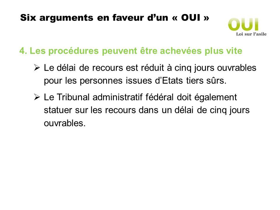 Six arguments en faveur dun « OUI » 4.