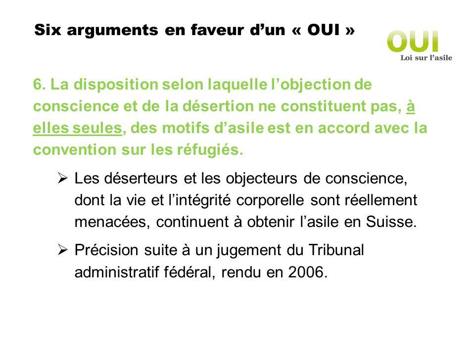 Six arguments en faveur dun « OUI » 6.