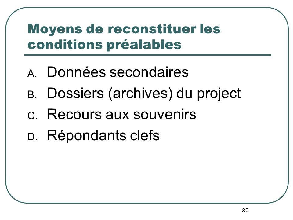 En lAbsence de Référence (etude de base) Evaluation en SituationRéelle Concevoir des évaluations en tenant compte des contraintes associées au budget,