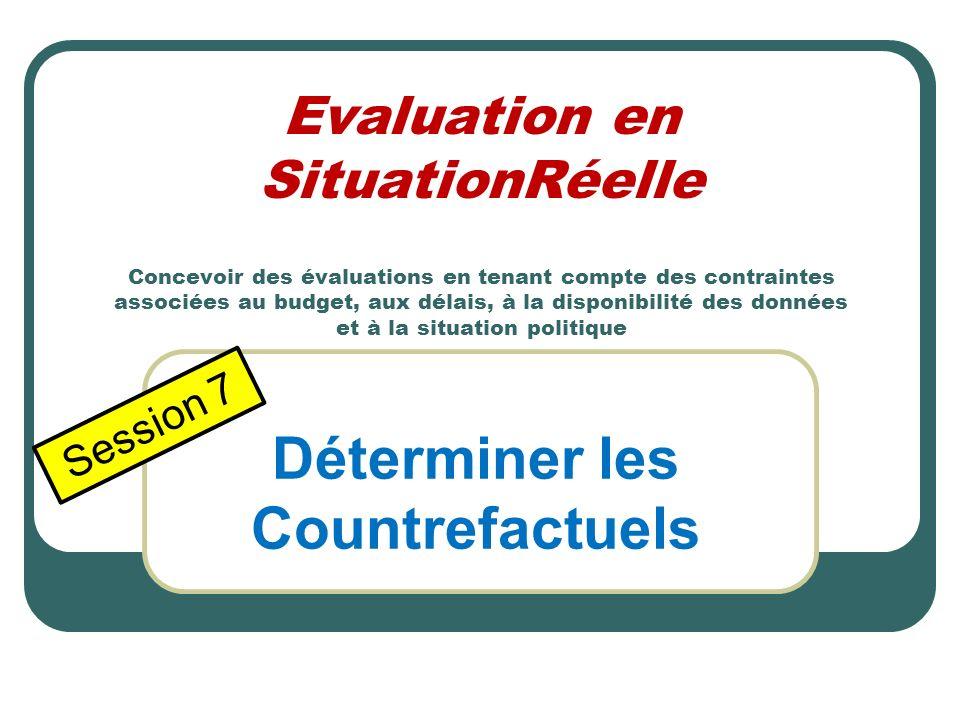 Lobjet de cet exercise est dacquérir une certaine touche pratique pour appliquer ce que nous avons appris sur lévaluation en SituationRéelle. Groupe A