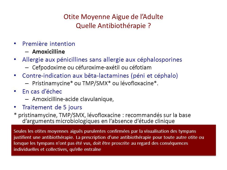 Otite Moyenne Aigue de lAdulte Quelle Antibiothérapie .