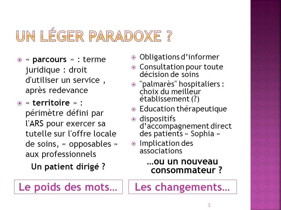 Plus de liberté pour les patients .… ou plus daccompagnement .