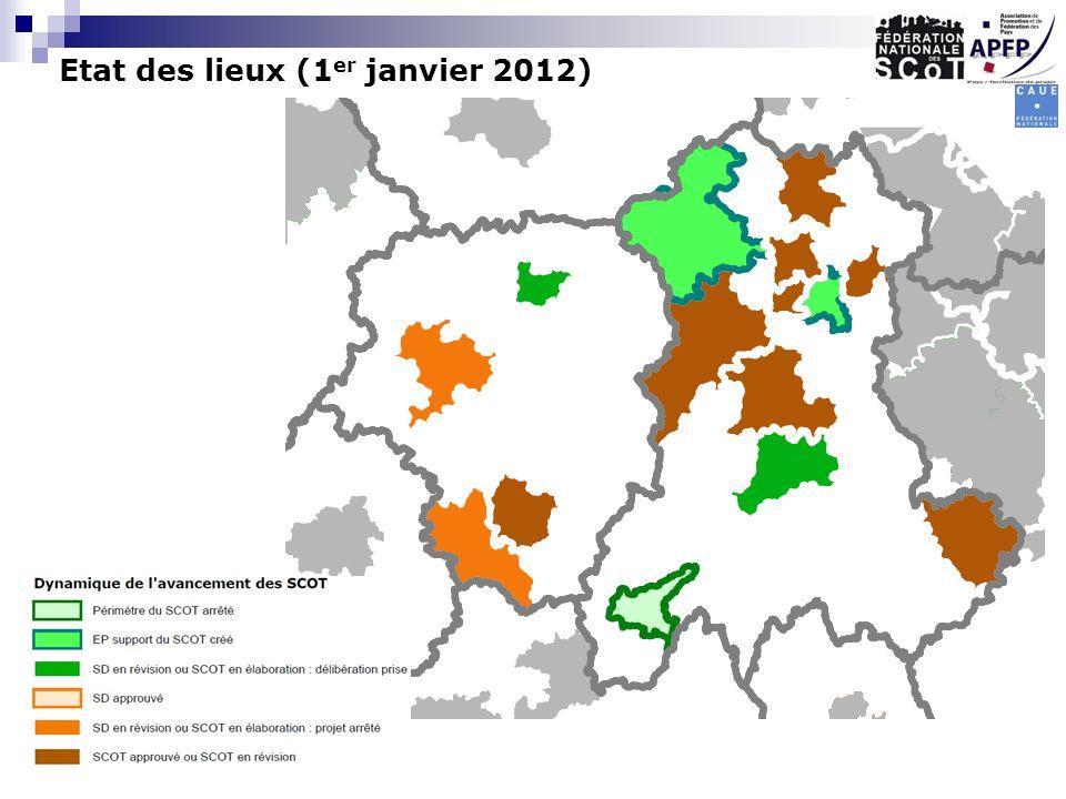 Etat des lieux (1 er janvier 2012)