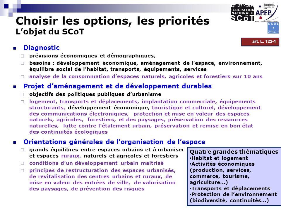 Diagnostic prévisions économiques et démographiques, besoins : développement économique, aménagement de lespace, environnement, équilibre social de lh
