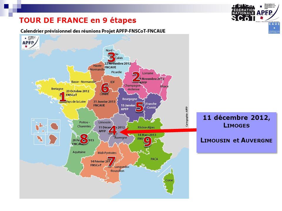 TOUR DE FRANCE en 9 étapes 11 décembre 2012, L IMOGES L IMOUSIN et A UVERGNE 11 décembre 2012, L IMOGES L IMOUSIN et A UVERGNE
