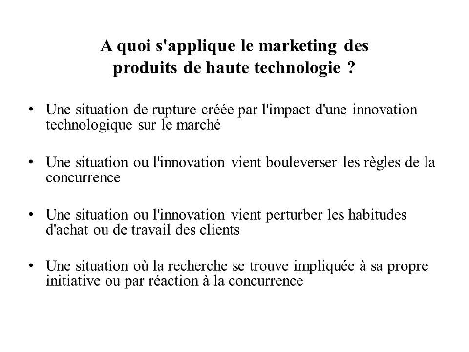 A quoi s'applique le marketing des produits de haute technologie ? Une situation de rupture créée par l'impact d'une innovation technologique sur le m