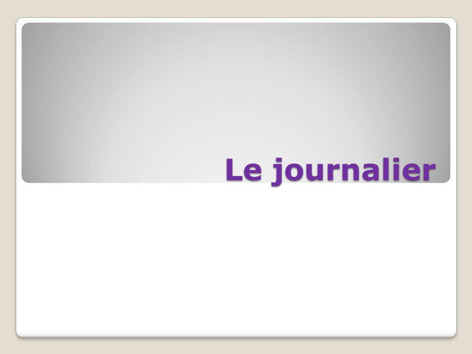 Le journalier