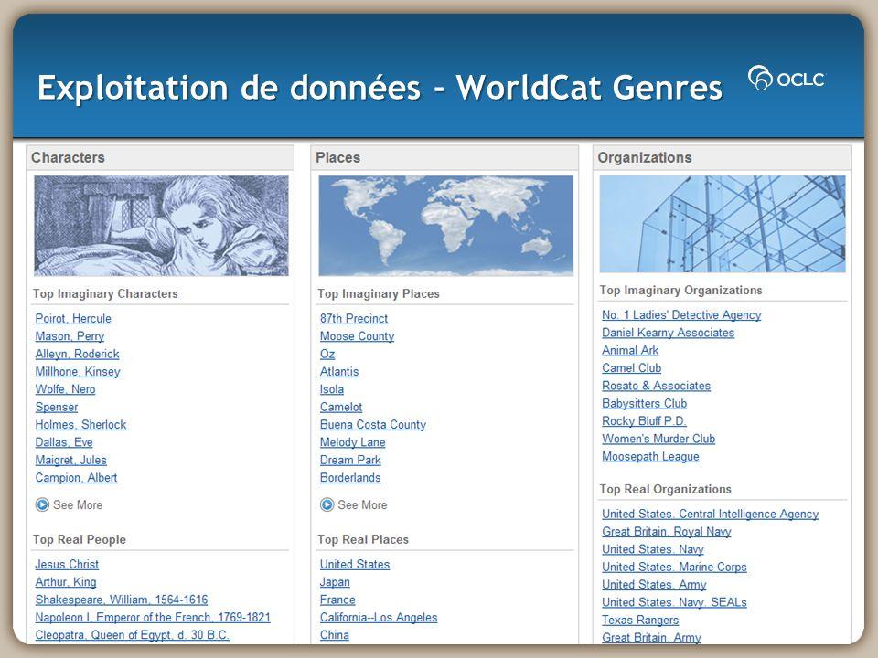 Exploitation de données - WorldCat Genres