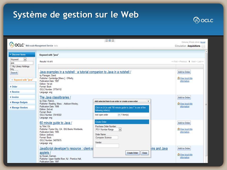 Système de gestion sur le Web