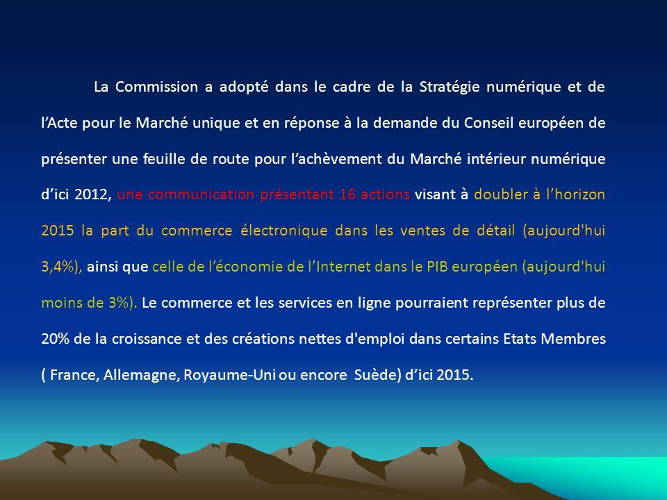 La Commission a adopté dans le cadre de la Stratégie numérique et de lActe pour le Marché unique et en réponse à la demande du Conseil européen de pré