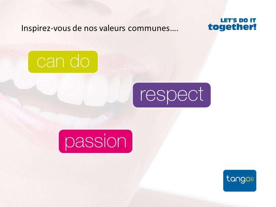 Inspirez-vous de nos valeurs communes….