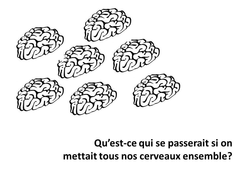 Remue-méninges Une manière pour nos cerveaux de collaborer pour créer de nouvelles idées.
