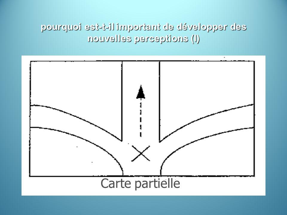 pourquoi est-t-il important de développer des nouvelles perceptions (I) Carte partielle