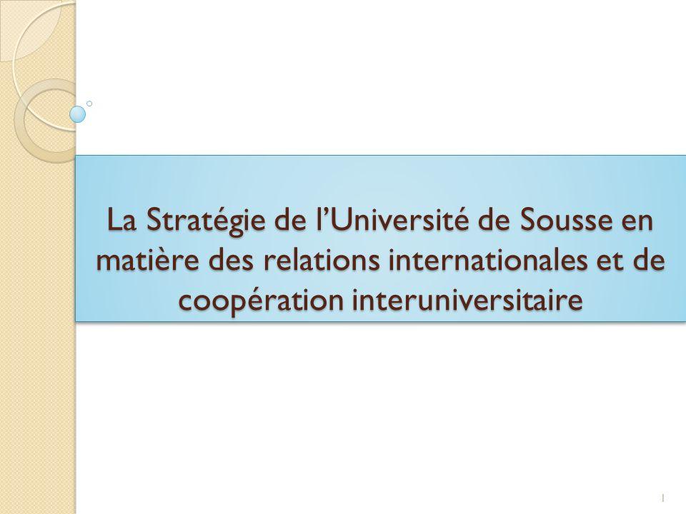 Tempus Icré@ LUniversité de Sousse est partenaire dans le projet Tempus Icré@ Les objectifs la mise en place de formations à linnovation chez les partenaires maghrébins au niveau master la mise en place de séminaires de sensibilisation à linnovation pour les doctorants.