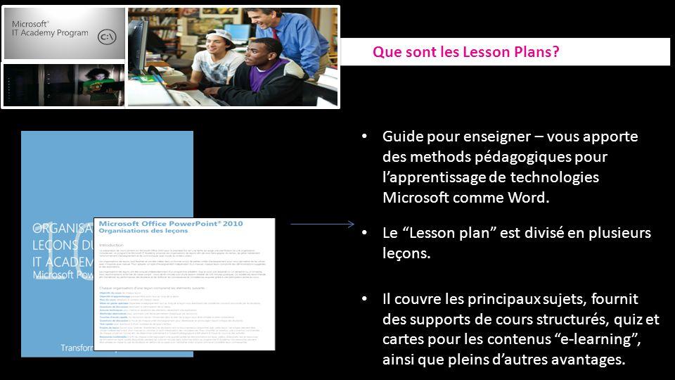 Guide pour enseigner – vous apporte des methods pédagogiques pour lapprentissage de technologies Microsoft comme Word.