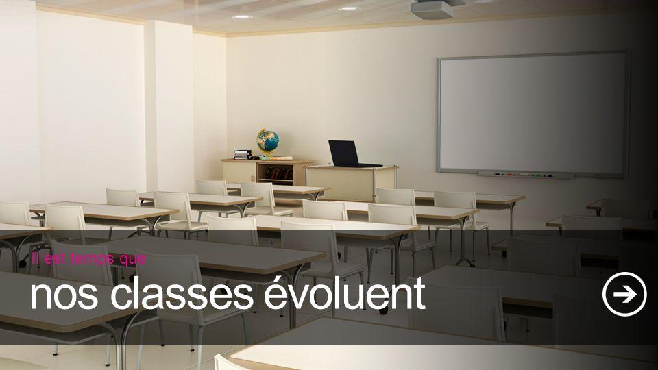 Il est temps que nos classes évoluent