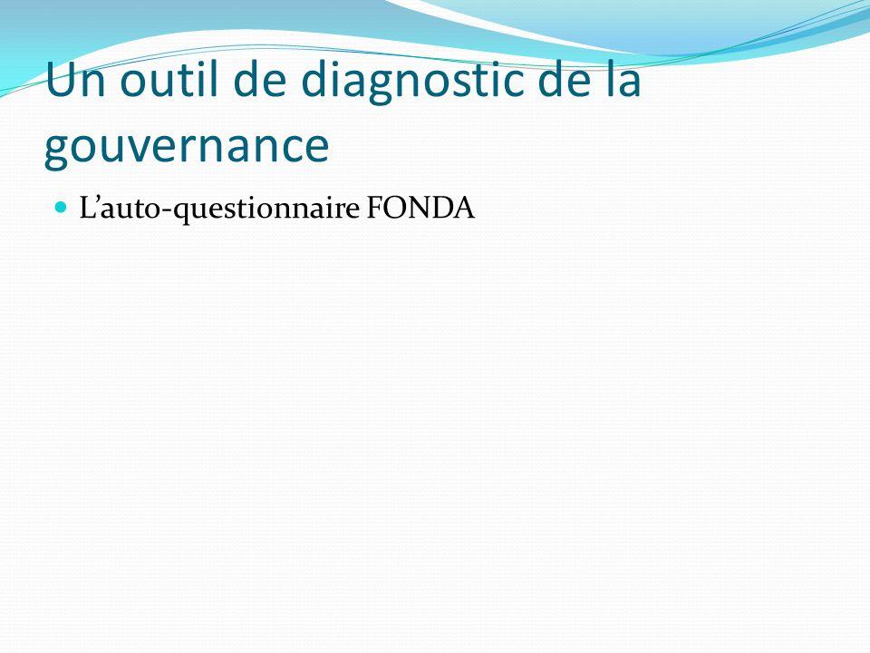 Un outil de diagnostic de la gouvernance Lauto-questionnaire FONDA