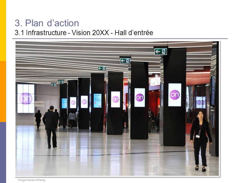 3. Plan daction 3.1 Infrastructure - Vision 20XX - Hall dentrée Image Neoadvertising