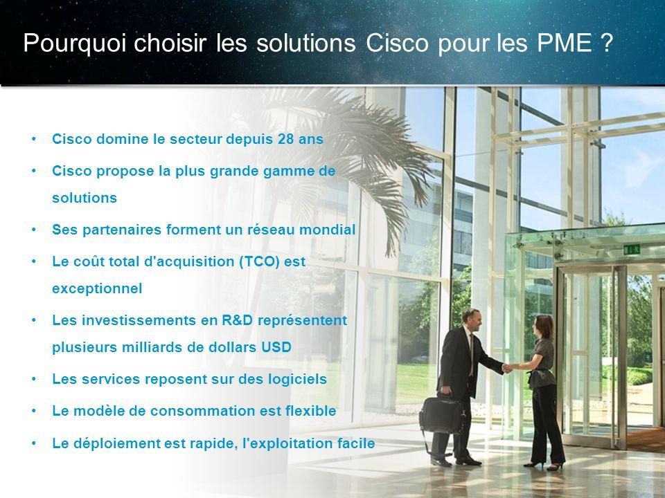 © 2013 Cisco et/ou ses filiales. Tous droits réservés. Informations confidentielles de Cisco 12 Cisco domine le secteur depuis 28 ans Cisco propose la