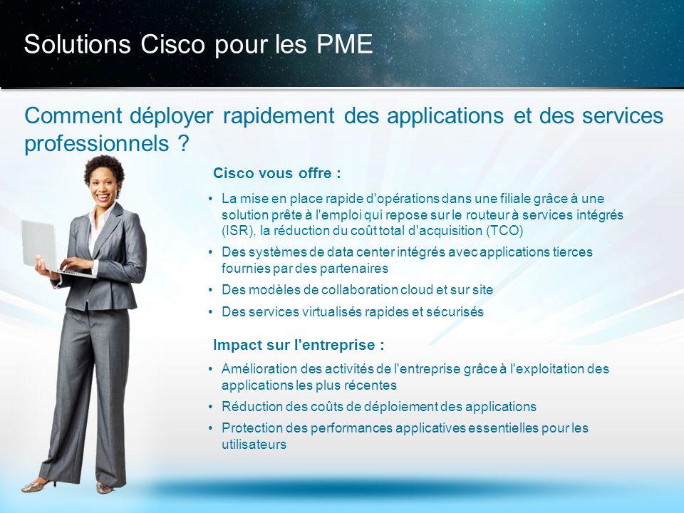 © 2013 Cisco et/ou ses filiales. Tous droits réservés. Informations confidentielles de Cisco 15 Solutions Cisco pour les PME Comment déployer rapideme
