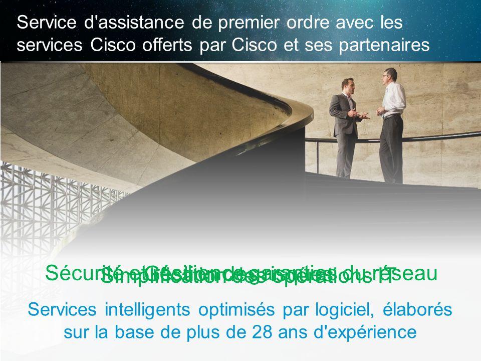 © 2013 Cisco et/ou ses filiales. Tous droits réservés. Informations confidentielles de Cisco 19 Service d'assistance de premier ordre avec les service