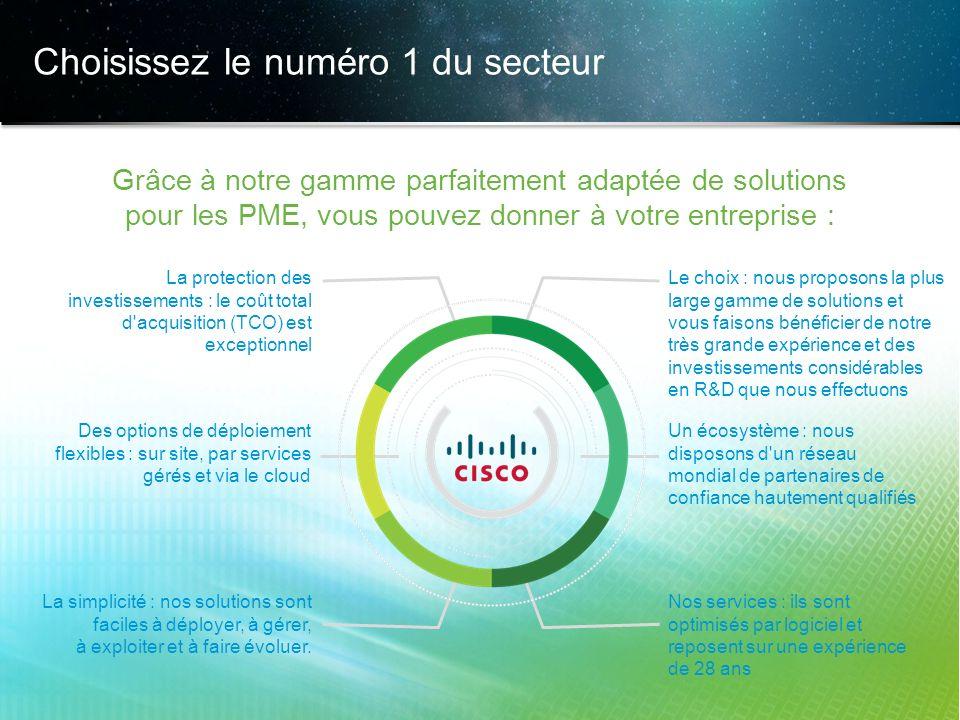 © 2013 Cisco et/ou ses filiales. Tous droits réservés. Informations confidentielles de Cisco 24 Choisissez le numéro 1 du secteur Grâce à notre gamme