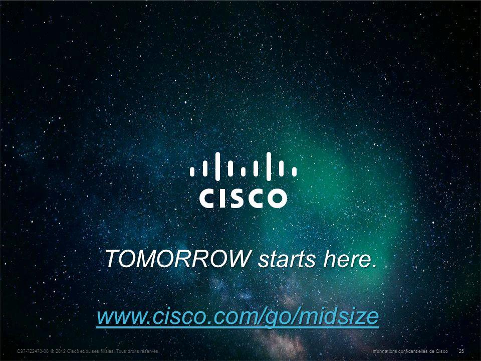 Informations confidentielles de Cisco © 2013 Cisco et/ou ses filiales. Tous droits réservés. 25 C97-722470-00 © 2012 Cisco et/ou ses filiales. Tous dr