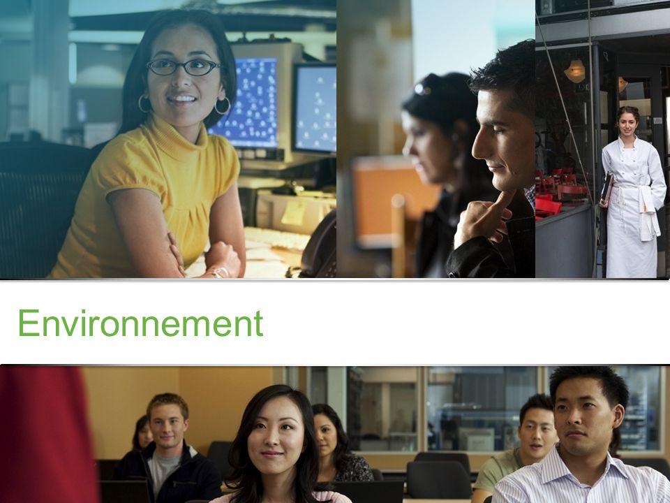 Informations confidentielles de Cisco © 2013 Cisco et/ou ses filiales. Tous droits réservés. 3 Environnement