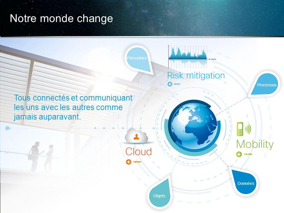 © 2013 Cisco et/ou ses filiales. Tous droits réservés. Informations confidentielles de Cisco 4 Notre monde change Tous connectés et communiquant les u