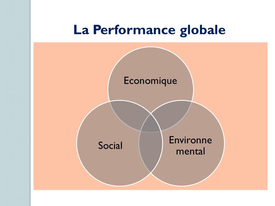 Economique Environne mental Social La Performance globale