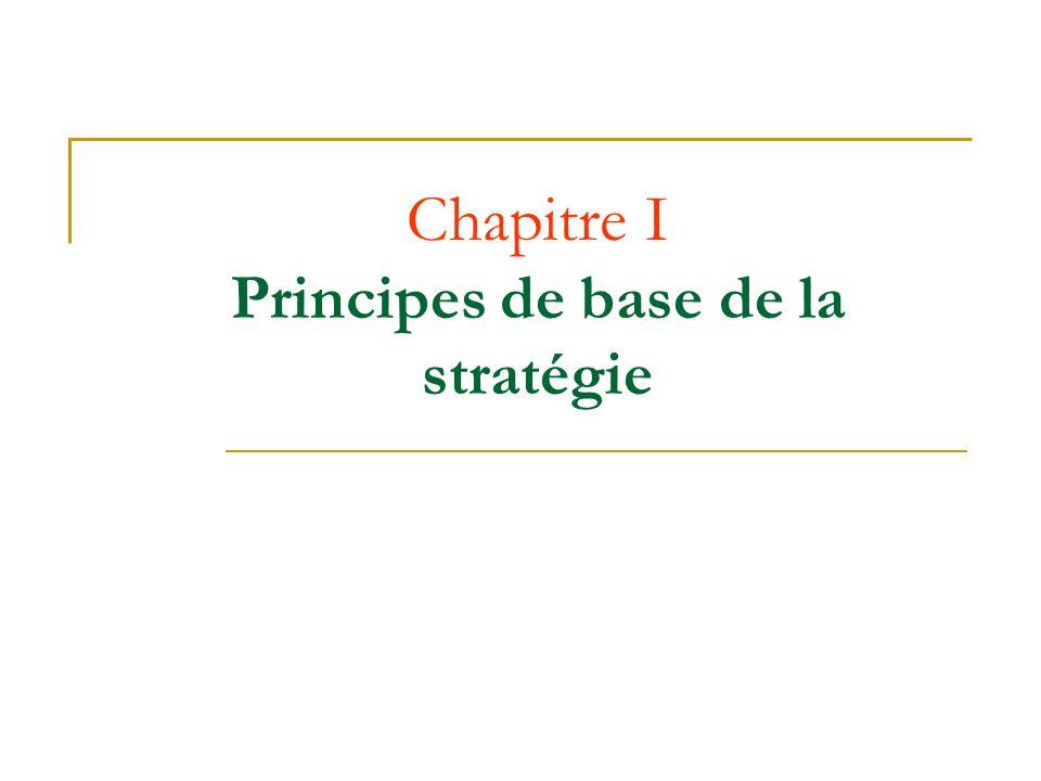 Chapitre I Principes de base de la stratégie
